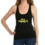 Yellow Bass fish 2 Racerback Tank Top
