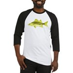Yellow Bass fish 2 Baseball Jersey