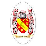 Cavalliere Sticker (Oval 50 pk)