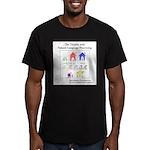 SpecGram NLP Pretty Li Men's Fitted T-Shirt (dark)
