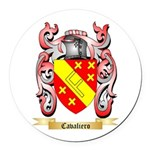 Cavaliero Round Car Magnet