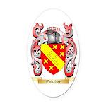 Cavalier Oval Car Magnet