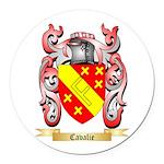 Cavalie Round Car Magnet