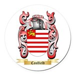 Caulfield Round Car Magnet