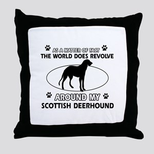 Scottish Deerhound dog funny designs Throw Pillow