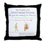 SpecGram NLP Monkey Throw Pillow