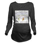 SpecGram NLP Monkey Long Sleeve Maternity T-Shirt