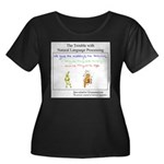 SpecGram Women's Plus Size Scoop Neck Dark T-Shirt