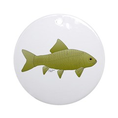 Bigmouth Buffalo fish Ornament (Round)