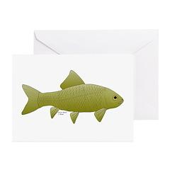 Bigmouth Buffalo fish Greeting Cards (Pk of 10)
