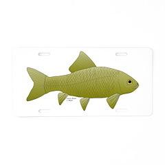 Bigmouth Buffalo fish Aluminum License Plate