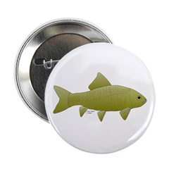 "Bigmouth Buffalo fish 2.25"" Button"