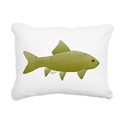 Bigmouth Buffalo fish Rectangular Canvas Pillow