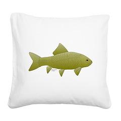 Bigmouth Buffalo fish Square Canvas Pillow