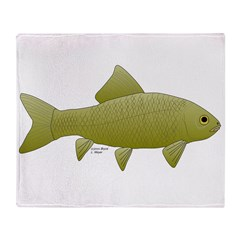 Bigmouth Buffalo fish Throw Blanket