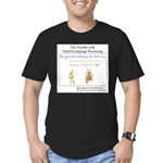 SpecGram NLP Monkey Men's Fitted T-Shirt (dark)