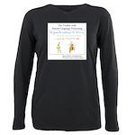 SpecGram NLP Monkey Plus Size Long Sleeve Tee