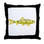Black Redhorse fish Throw Pillow
