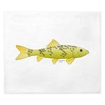 Black Redhorse fish King Duvet