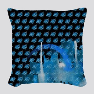Atom Sea #16 Woven Throw Pillow 2
