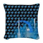 Atom Sea #16 Woven Throw Pillow 2