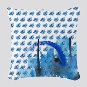 Atom Sea #16 Woven Throw Pillow 1