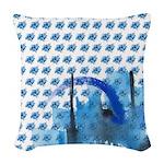 Atom Sea #16 Woven Throw Pillow 1