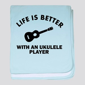 Life is better with a Ukulele baby blanket