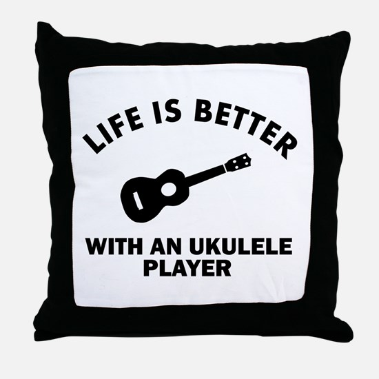Life is better with a Ukulele Throw Pillow