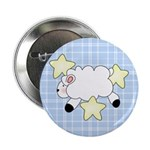 Lamb on Blue Button