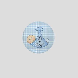 It's a Boy (White) Mini Button