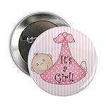 It's a Girl (White) Button