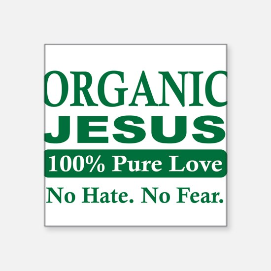 Organic Jesus Sticker