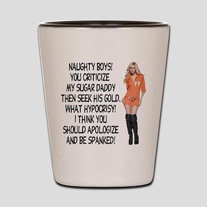 Naughty Boys! Shot Glass