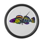orangethroat darter Large Wall Clock
