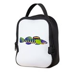 orangethroat darter Neoprene Lunch Bag