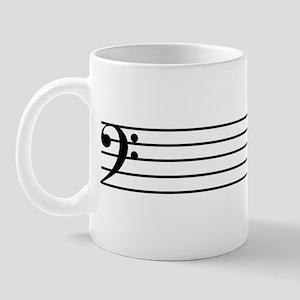 Bass Cleff Staff Mug