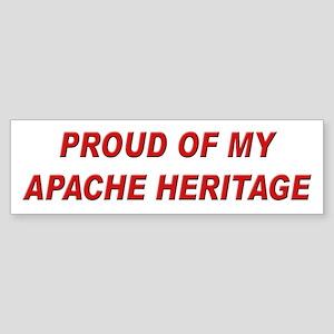 Apache Heritage Pride Bumper Sticker