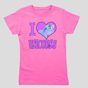 love unicorns.png Girl's Tee