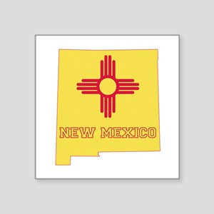 "New Mexico Flag Square Sticker 3"" x 3"""