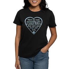 Open Your Heart Women's Dark T-Shirt