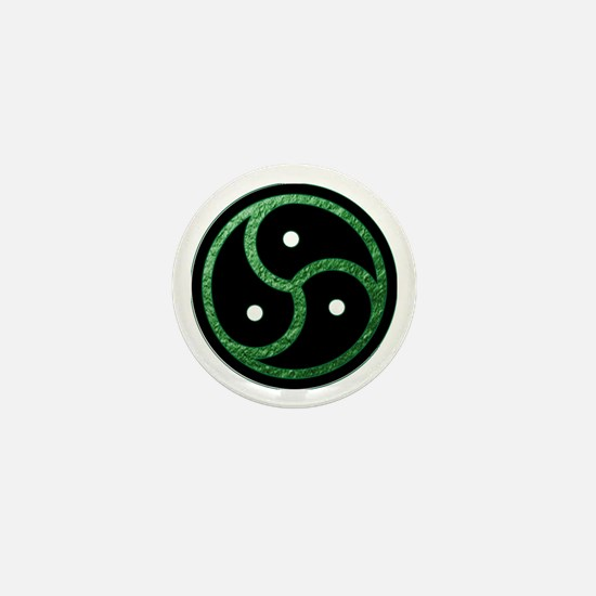GREEN - BDSM Emblem - Symbol Mini Button