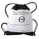 SpecGram Stupid Phonetics Drawstring Bag