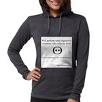 SpecGram Stupid Phonetics Womens Hooded Shirt