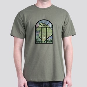 Stained Glass Collie Dark T-Shirt