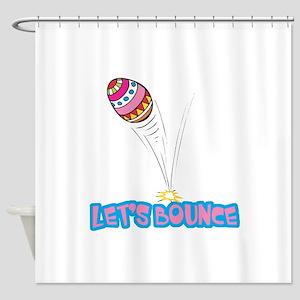 Lets Bounce Easter Egg Shower Curtain