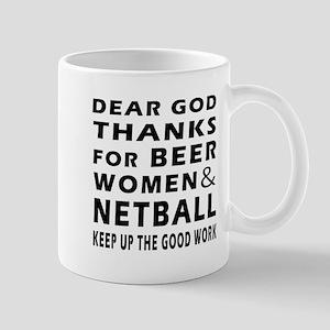 Beer Women And Netball Mug