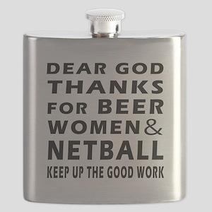 Beer Women And Netball Flask
