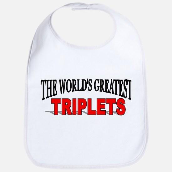 """""""The World's Greatest Triplets"""" Bib"""