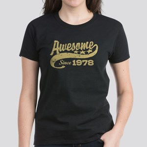 Awesome Since 1978 Women's Dark T-Shirt
